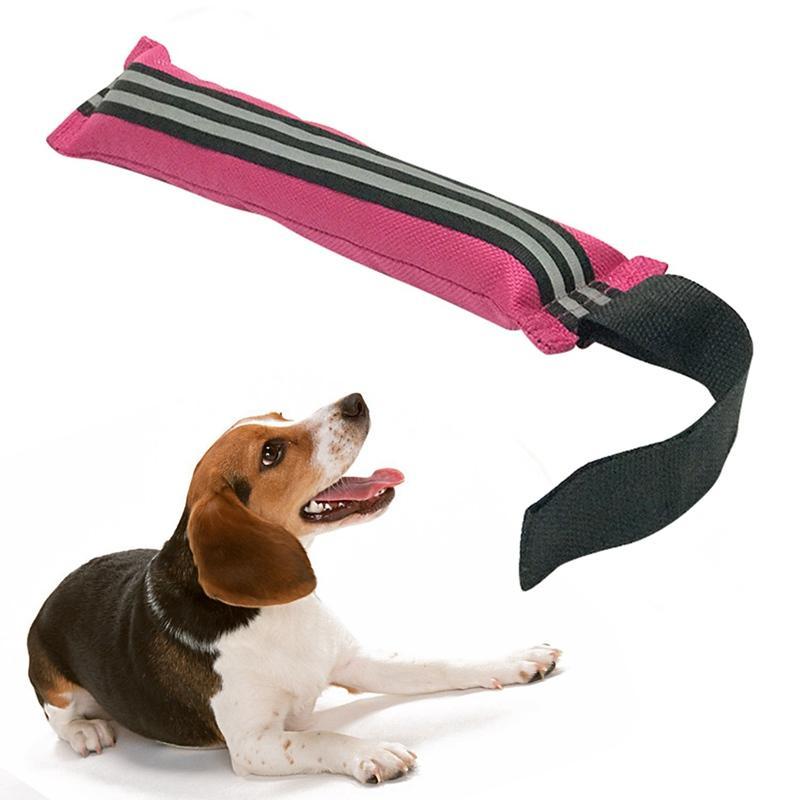 Pet Dog Reflective Dog Chew Interactive Durable Training Bite Puppy Nylon Equipment Outdoor Pull Universal Toy Belt