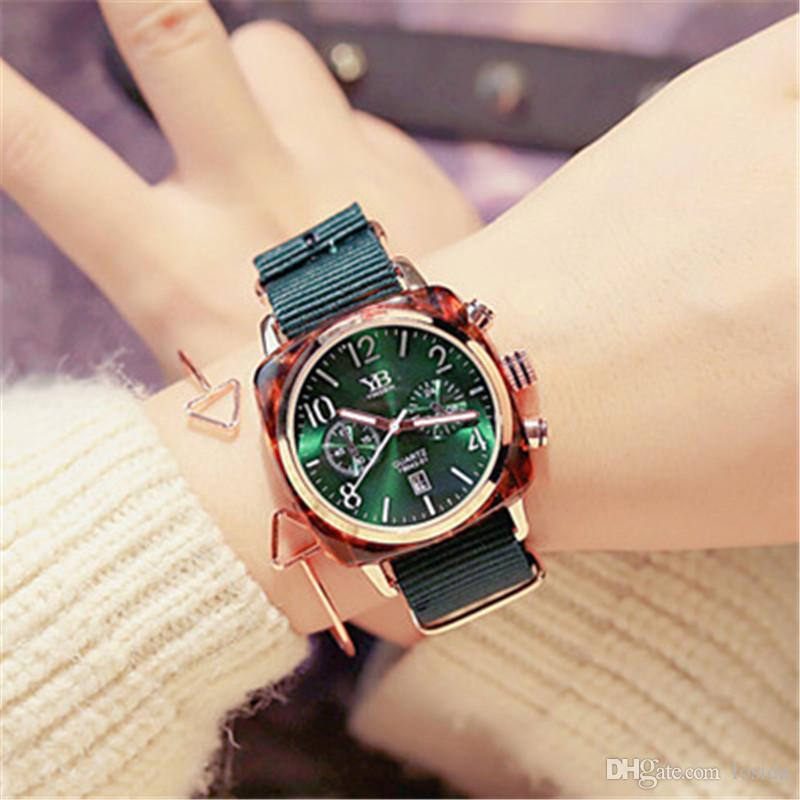 Womens Analog Fashion Watches Relogio Mascuulino Luxury D Style W Quartz Wrist Watches Round Dial Black White Multicolor Student Watch 2019