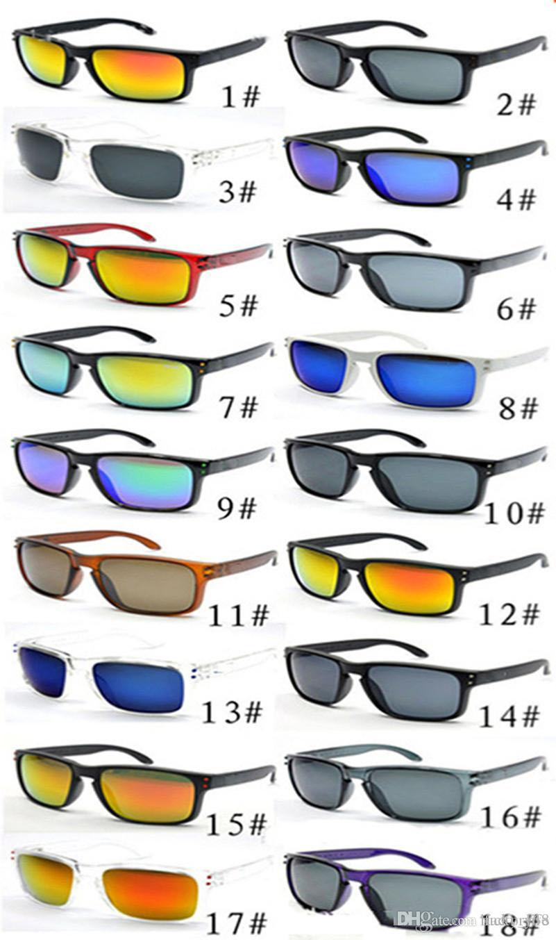 Venda quente barato óculos de sol para homens esporte ciclismo desinger óculos de sol dazzle cor espelhos óculos 18 cores frete grátis