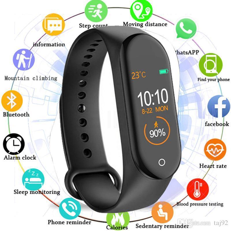 M4 Smart Band Fitness Tracker Watch Sport bracelet Heart Rate Smart Watch 0.96 inch Smartband Monitor Health Wristband PK mi Band 4