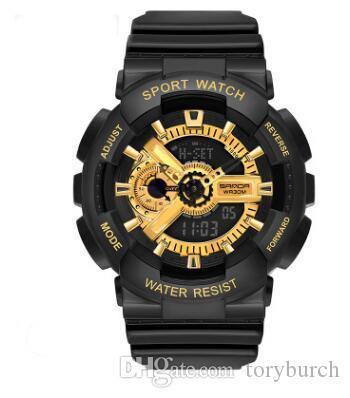 vendita all'ingrosso marca relogio nuovi orologi di sport degli uomini, LED cronografo da polso, orologi militari, orologi digitali, miscela di sostegno ordine di colore dropship