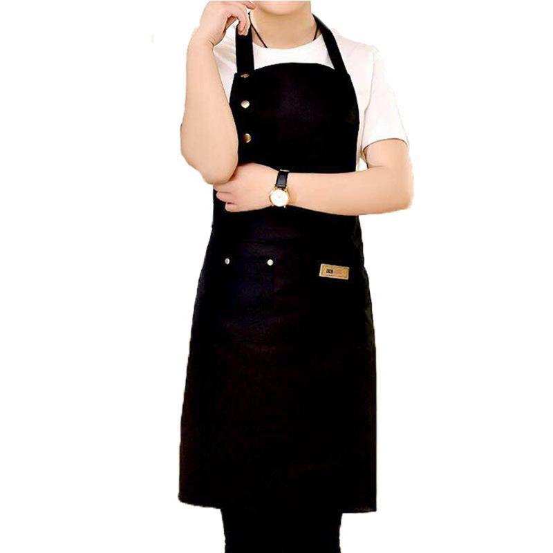 2020 NewSolid que cocina el delantal de la mujer de los hombres Chef Camarero Cafetería Tienda ajustable barbacoa Peluquería delantales baberos accesorios de cocina