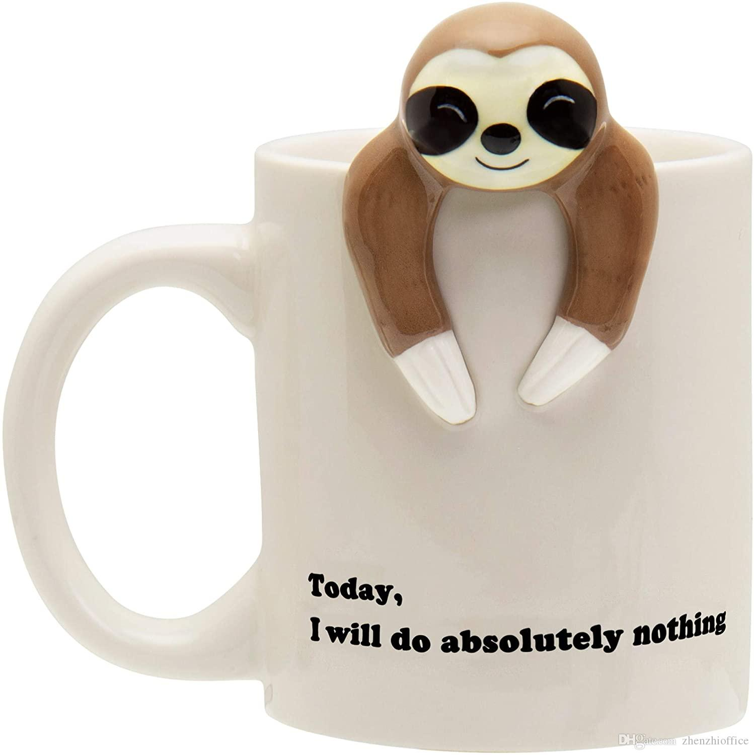 Sloth Lazy Funny Coffee Mug Funny Gifts For Women And Men 12 Oz Personalized Photo Coffee Mugs Personalized Photo Mugs From Zhenzhioffice 30 16 Dhgate Com