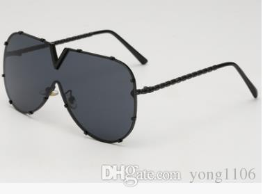 Neue Sonnenbrillen europäische und amerikanische Mode-Straßenfotografie Sonnenbrillen personalisierte Sonnenbrillen hochwertige Brillen integrierte Meeresfilme