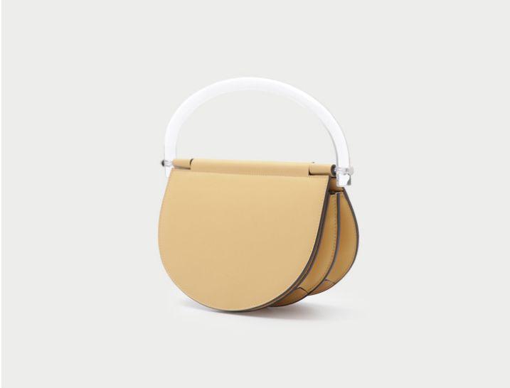 Новая дизайнерская натуральная кожа прозрачная седельная сумка одно плечо crossbody сумки с высоким качеством