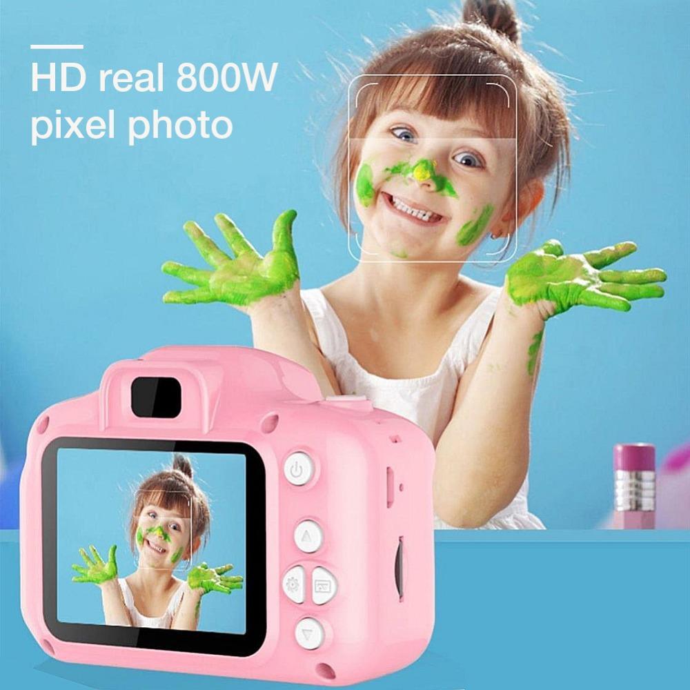 Niños mini cámara para niños juguetes educativos para los regalos de los niños del bebé del regalo de cumpleaños de la cámara 1080P cámara digital de proyección de vídeo
