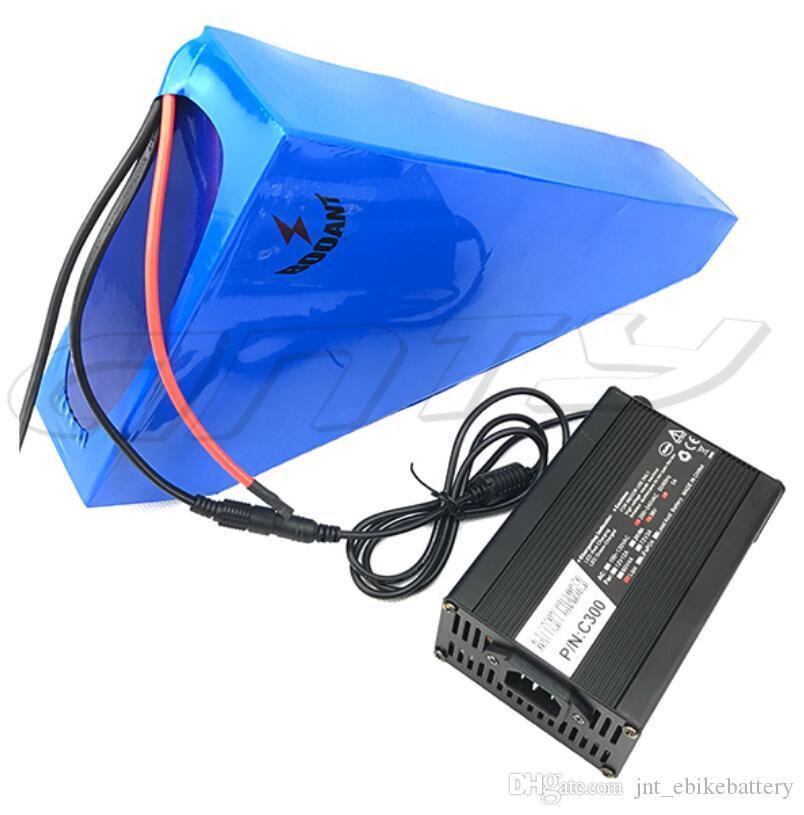 Бесплатная доставка e велосипед треугольник аккумуляторная батарея 48 В 20AH литиевые батареи для 750 Вт 1000 Вт 1500 Вт 54.6 В 2A Зарядное устройство