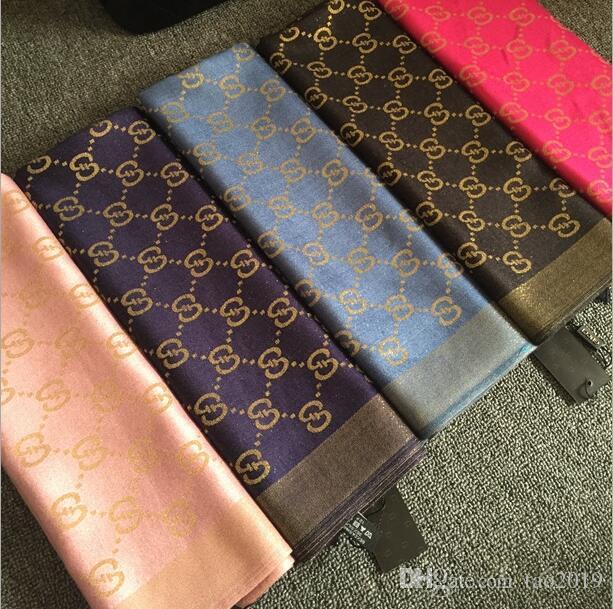 fashion design silk shawl shiny gold and silver yarn cotton yarn-dyed scarf fashion men women scarves 180*70cm