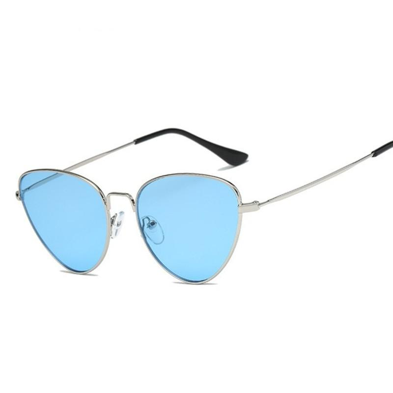 All'ingrosso-retrò signore di gatto occhiali da sole eye Rosso Giallo Elegante Moda Femminile Occhiali da Sole Leggero Sunglass per le donne Ombra UV400