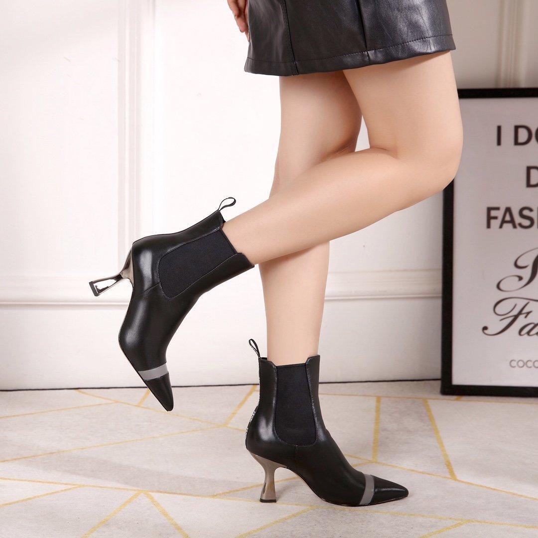 Hot Sale-Neuer heißen Verkauf, Designermode Damen Booties, Ferse 8,5 cm hoch, Damen Stiefel