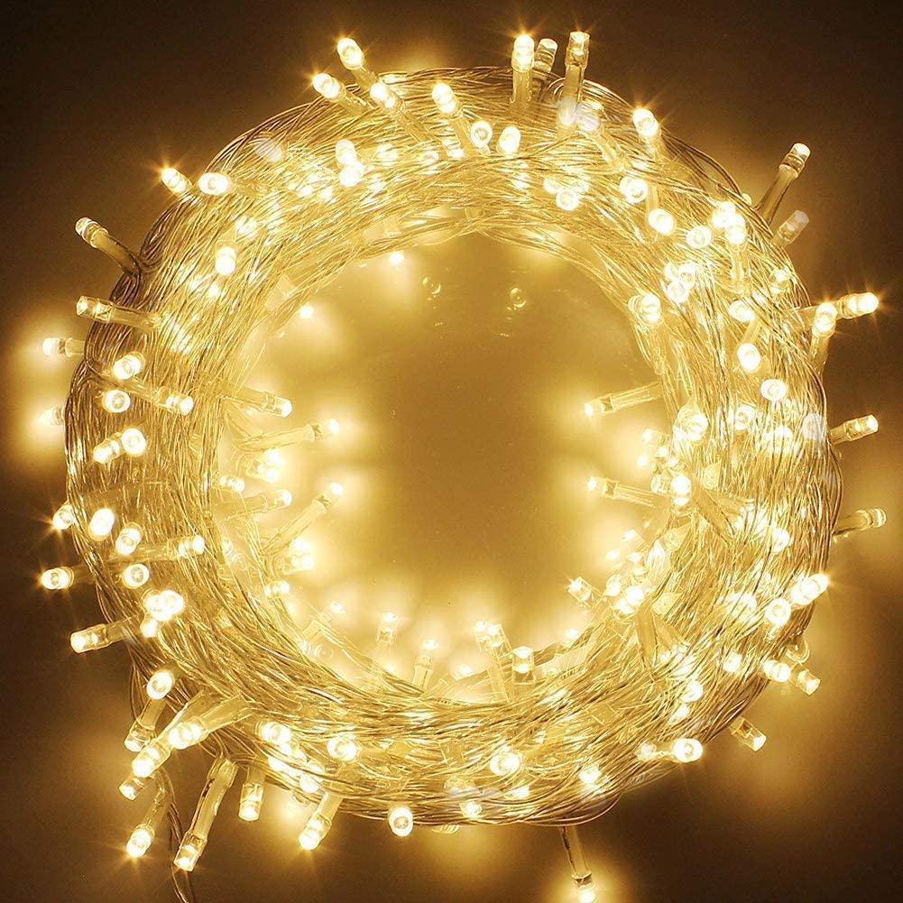 스타 (100) LED 33 발 문자열 요정 등 8 조명 모드 실내 및 야외 파티 잔디 가족 침실을 반짝