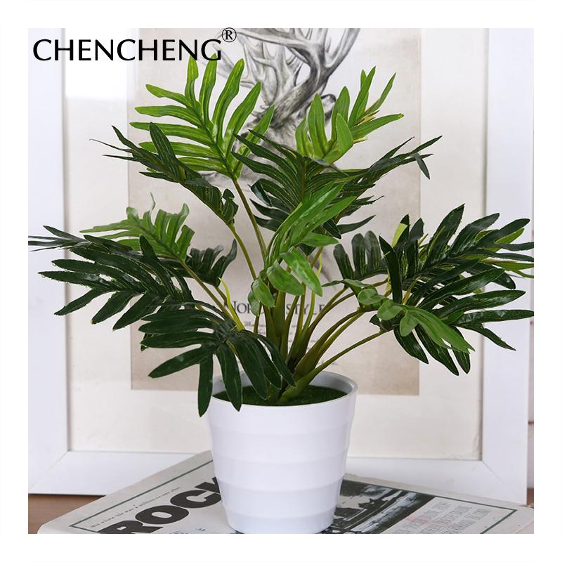 wholesale Fake Plant Branch Green Leaf Flower with Pot Artificial Plant Ivy Indoor Planting Home Hotel Office Decor