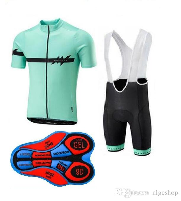 2018 the new Morvelo team Cycling Short Sleeves jersey (bib) shorts sets Sportswear sets Breathable quick dry summer ropa ciclismo hombre
