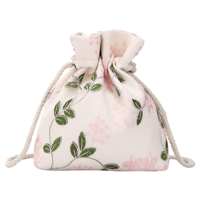 Sweet Lady Broderie Sac à cordonnet Bucket 2019 été nouvelle qualité sac à main de femmes de toile chaîne bandoulière Messenger Bag