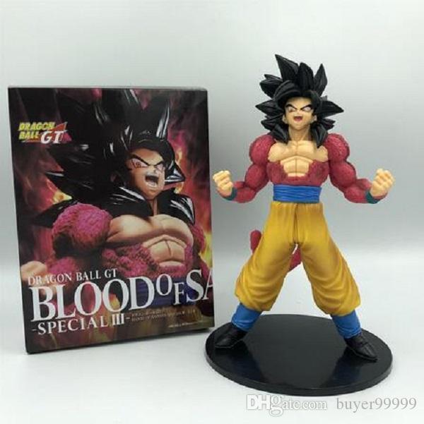 Dragon Ball Z Goku Super Saiyan 4 Kırmızı Saç Combat Ver. PVC Action Figure DBZ Çikolata Koleksiyonu Modeli 20cm
