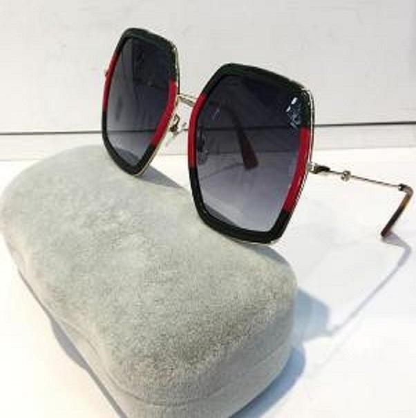 Progettista Le donne di lusso di modo degli occhiali da sole Piazza Grande cornice estiva generoso stile misto Colore della lente superiore UV Protection