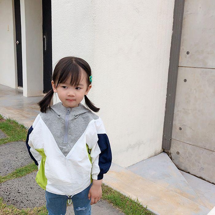 Корейский стиль детская мода цвет блокировка лоскутное толстовки мальчики девочки красочные толстовки с длинным рукавом