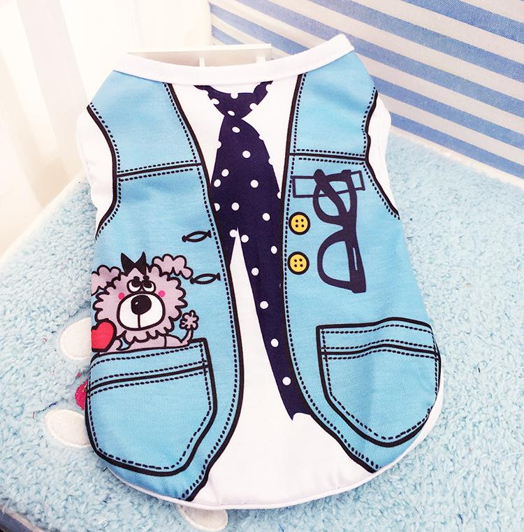 Cartoon Print Dog Shirt Cheap Dog Clothes For Small Dogs Summer Chihuahua Tshirt Cute Puppy Vest Y