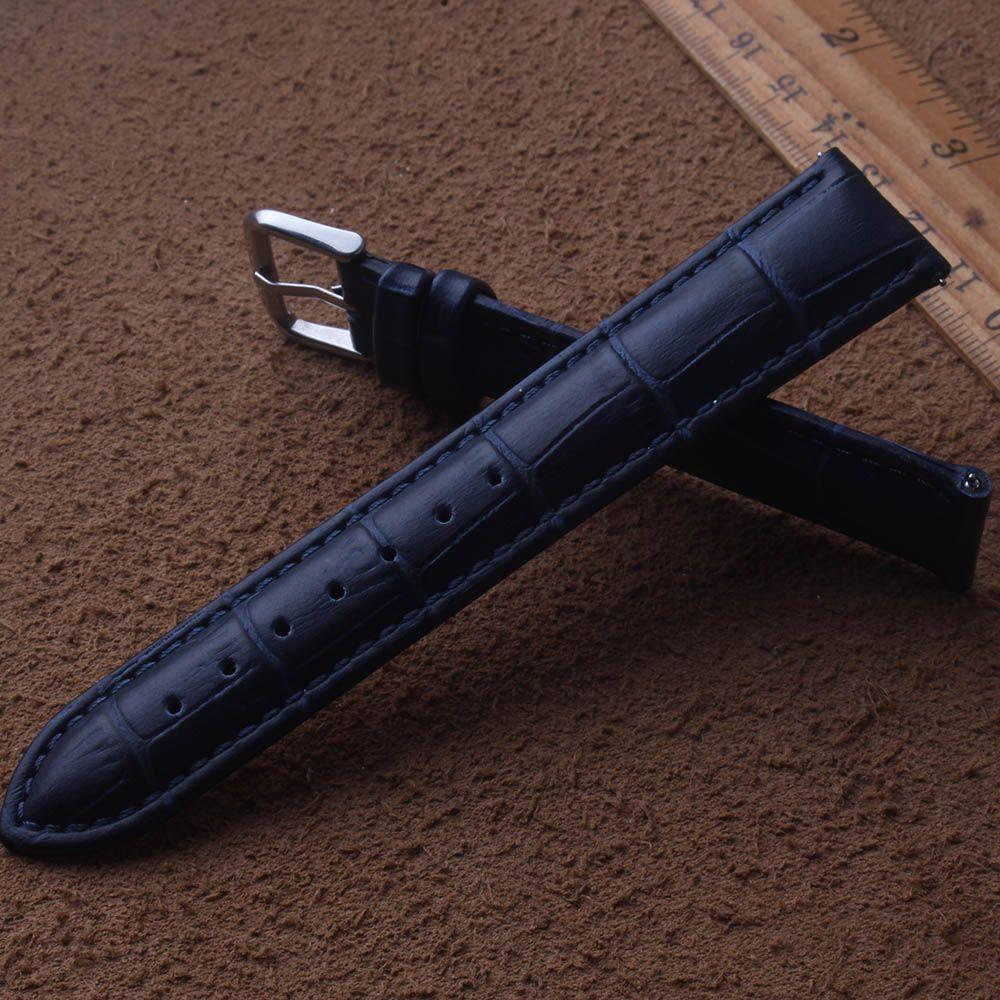 Azul oscuro correas de reloj correas 14mm 15mm 16mm 17mm 18mm 19mm 20mm 21mm 22mm 23mm accesorios 24mm Calidad reloj para los hombres reloj mujer