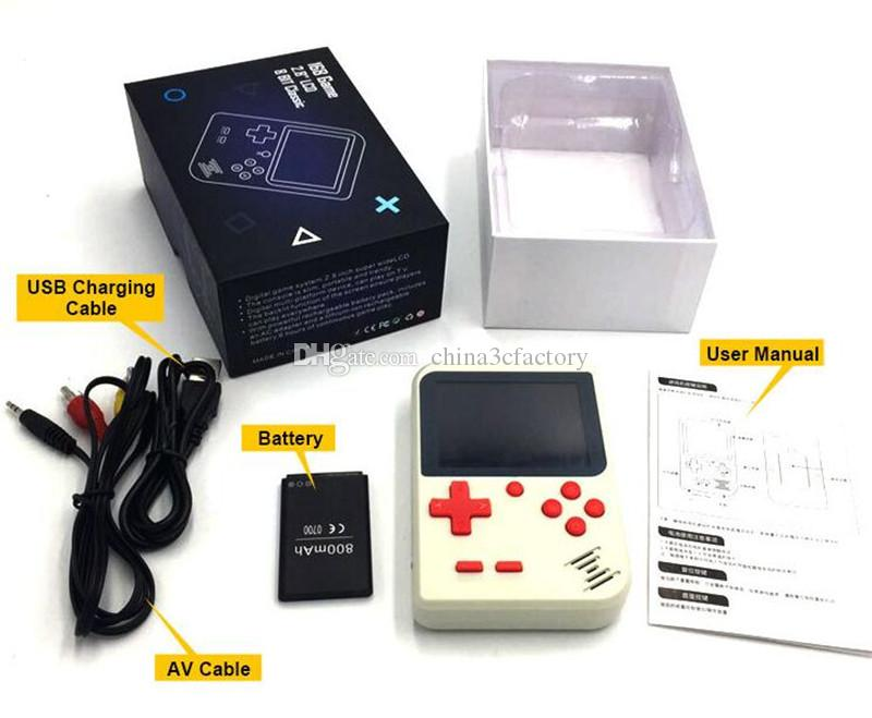 400 in 1 Handheld video Games Console Portable Retro 8 bit FC MODEL FOR FC AV GAMES Game Player with retail box