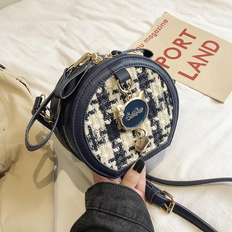 2019 Fashion Autumn Winter Round Bags Women's Handbags and Clutch Wild Hit Color Single Shoulder Crossbody Bag