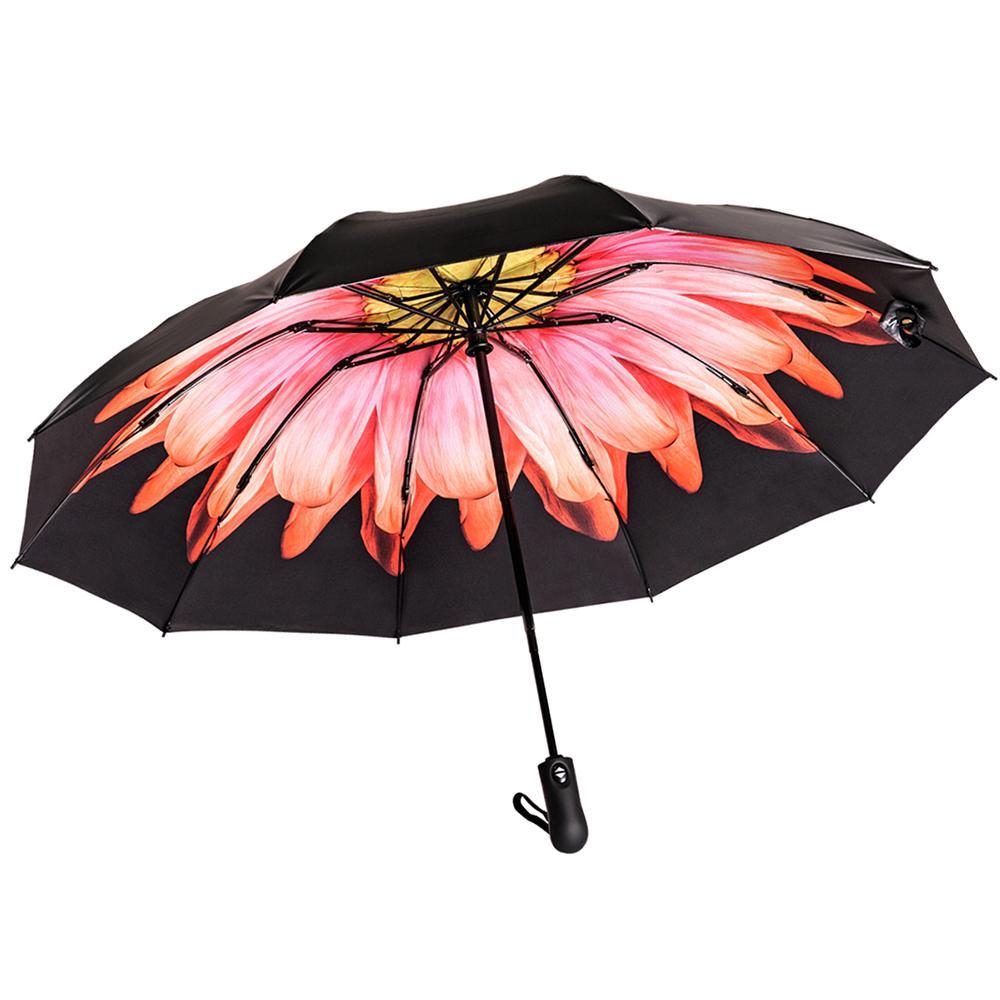 Reverse pieghevole automatico Ombrello invertito Inside Out Sun Pioggia donne Ombrello 10 costole Forte Ombrelli CX200628 di antivento donne