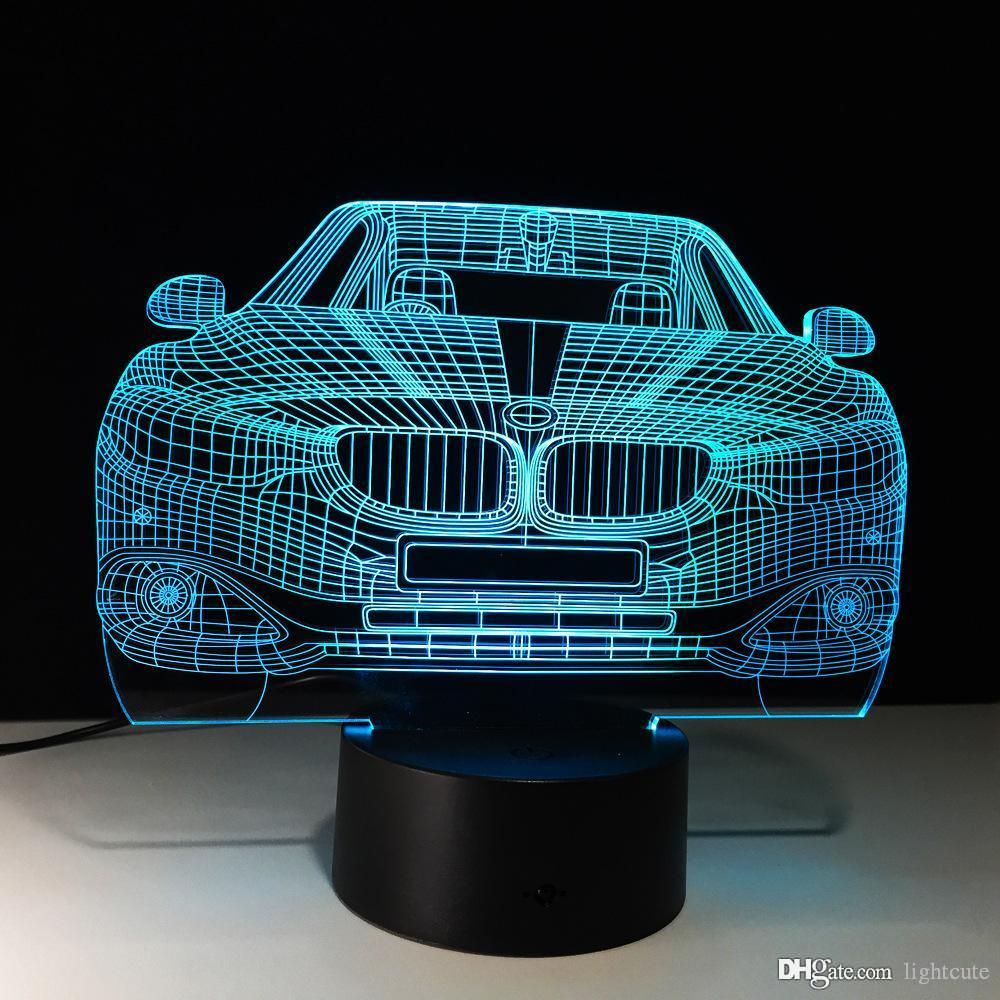 3D Fast & Furious 8 Bmw Car Lamp 7 Colorled Night Lamps For Kids Touch Led Usb Table Lampara Lampe Nightlight Decorative Lamp Xmas Gift Kids