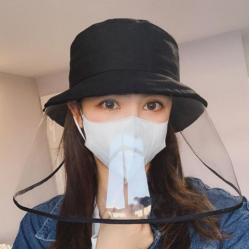 Bouclier visage en gros Chapeau de protection Casquette unisexe de protection anti-buée chapeau de pêcheur Femme Homme pluie Caps Pare-Soleil Visage Bouclier Chapeau