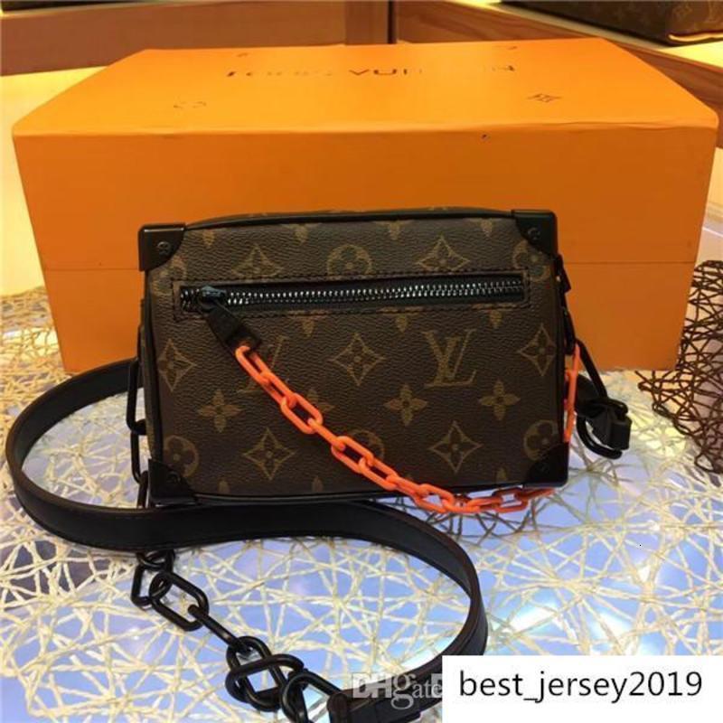 2020 Männer Reisetaschen Frauen Beutel echtes Leder-Handtaschen aus Leder keepall 45 Schultertasche Totes 44480 Größe 18x13x8cm