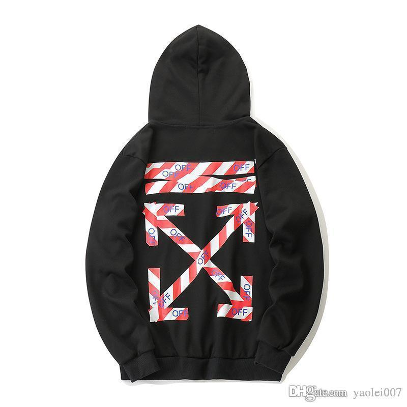Classic off fashion hoodie high quality casual cordon letter printing outdoor sports hooded sweater high quality couple hoodie