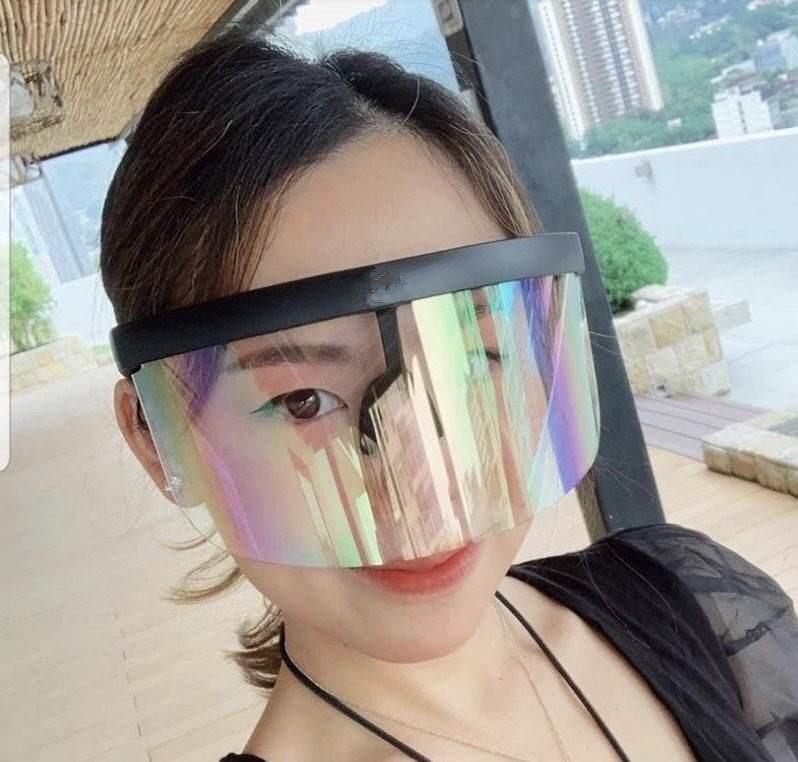 grande obiettivo adumbral anti-pigolio occhiali protettivi modo contro sputo esterna solare anti UV-occhiali adumbral UV400 uso per la guida adumbral