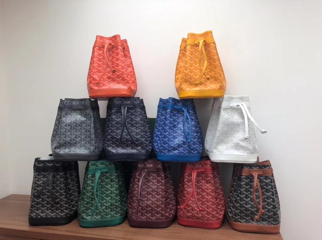 Brand new Alta qualidade couro genuíno clássico Paris Goyarrd goyar GY Goyarrdine Petite Flot Bucket Bag pelo saco crossbody saco de mini-ombro