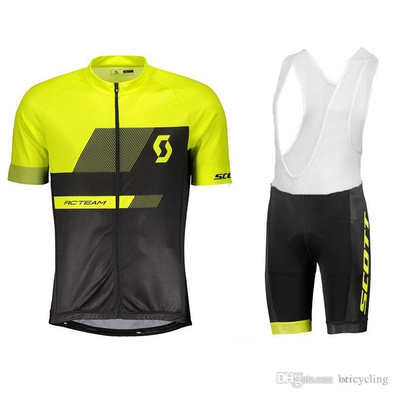 2018 Maillot cyclisme Maillot Ciclismo à manches courtes et cyclisme (bavette) de vélo de vélo Short Kits Sangle Ciclismo de B18090201