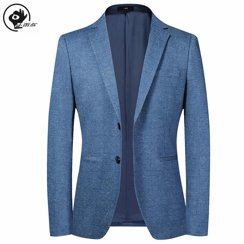 Piccola goccia di pioggia Mens Blazer Giacca Primavera Autunno sottile del vestito giacca uomo stile coreano Abbigliamento Uomo Suit Man Walking Suits M-4XL