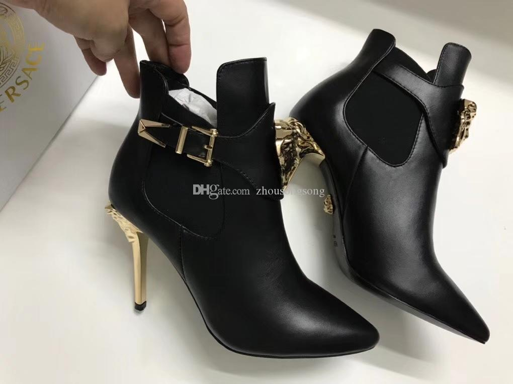 2020 European station factory direct sales High heels big-name high-end 10cm boots brand shoes fashion trend slippers casual shoes size 41