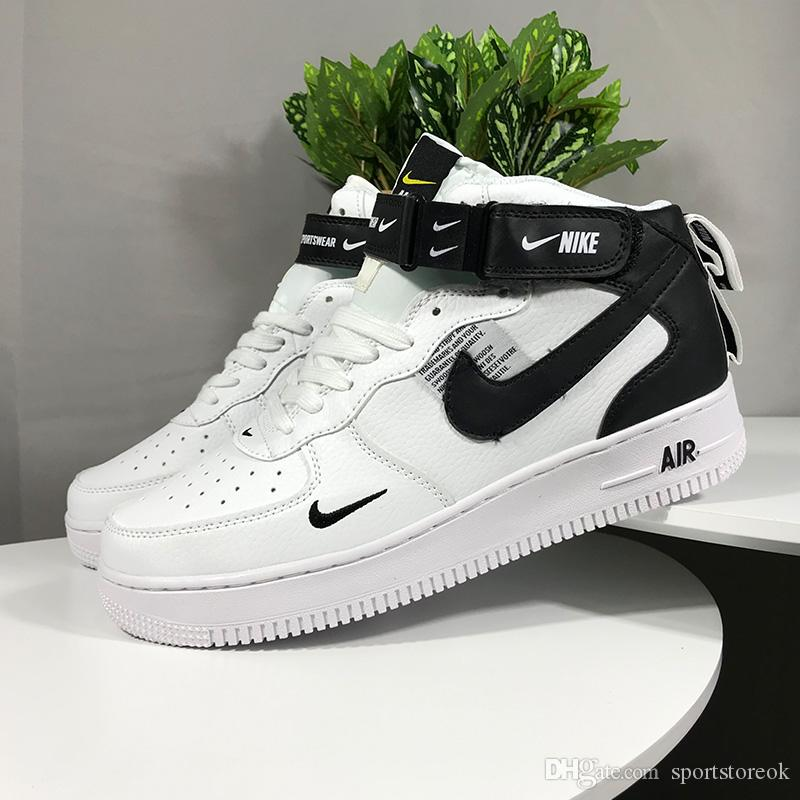 Acheter Nike Air Force 1 One Off White MoMA X Forces Chaussures De Course Hommes Formateurs Complexe Con Forced One 07 Virgil Sports Skateboard