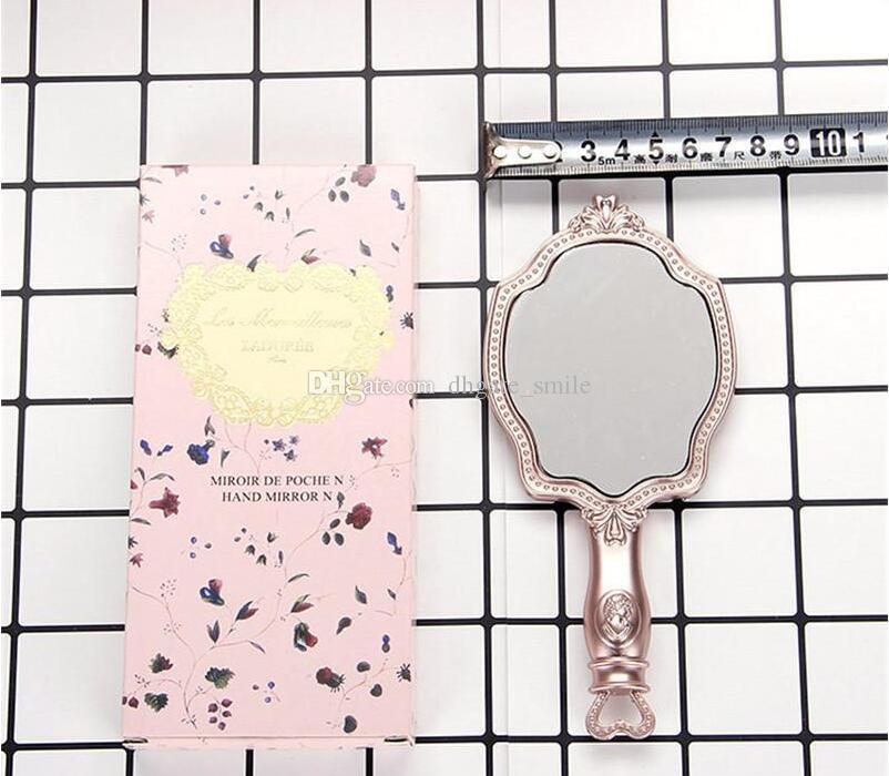 DHL free LADUREE Les Merveilleuses HAND MIRROR N cosmetics Makeup mirror Compact Vintage Plastic holder make up pocket mirror