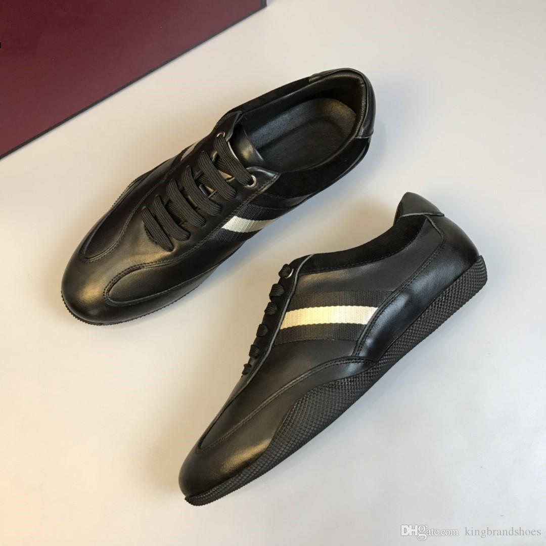 2019 nouvelles chaussures de loisirs de style chaussures classiques hommes de collection casual sport hommes en plein air respirant chaussures confortables noir