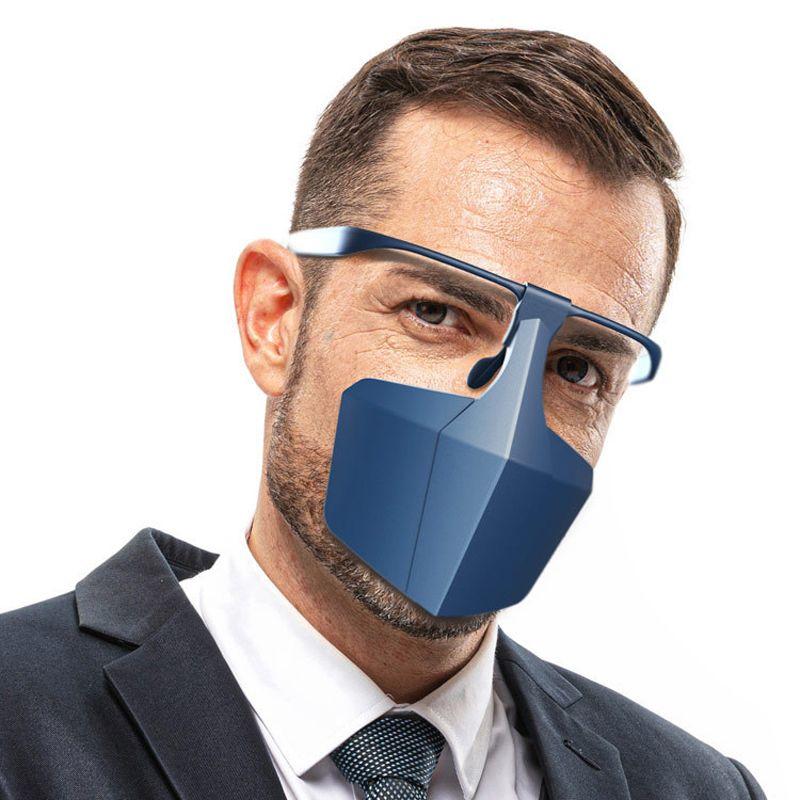 Máscara de proteção contra face reutilizável Anti Splash Spray Fashion Creative Protective PE Máscaras de proteção