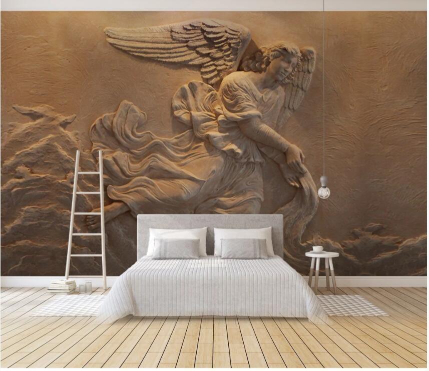 encargo de la foto del papel pintado 3D de socorro Europea mitológico ángel carácter casa decoración de la habitación murales del papel pintado 3D para las paredes 3 d