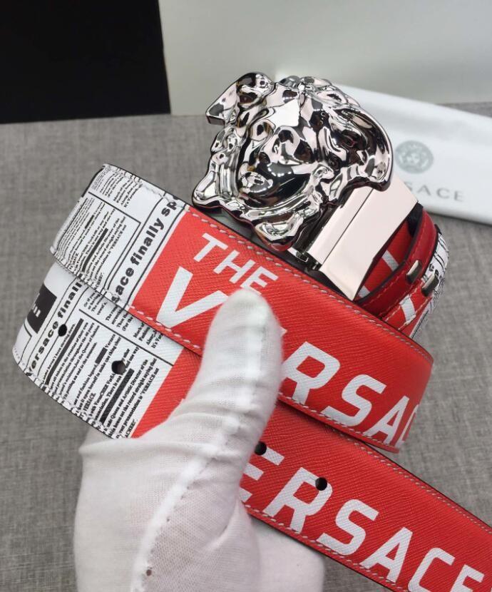 Mens Designer Gürtel Luxus Gürtel Marke Kuhfell Gürtel Art und Weise glatt Buckle mit Marken-Firmenzeichen 6 Farboption hohem Grade Qualität mit Box