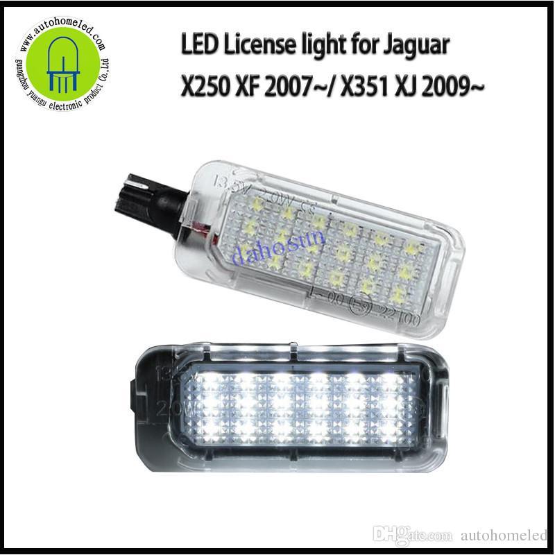 2pcs Jaguar XF 2007 Canbus LED License