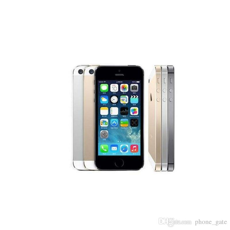 Apple iPhone5S iPhone 5S I5S Original Refurbished Smart Phone iOS System 16G 32G 64G With Fingerprint WCDMA 3G WIFI Bluetooth Mobilephone
