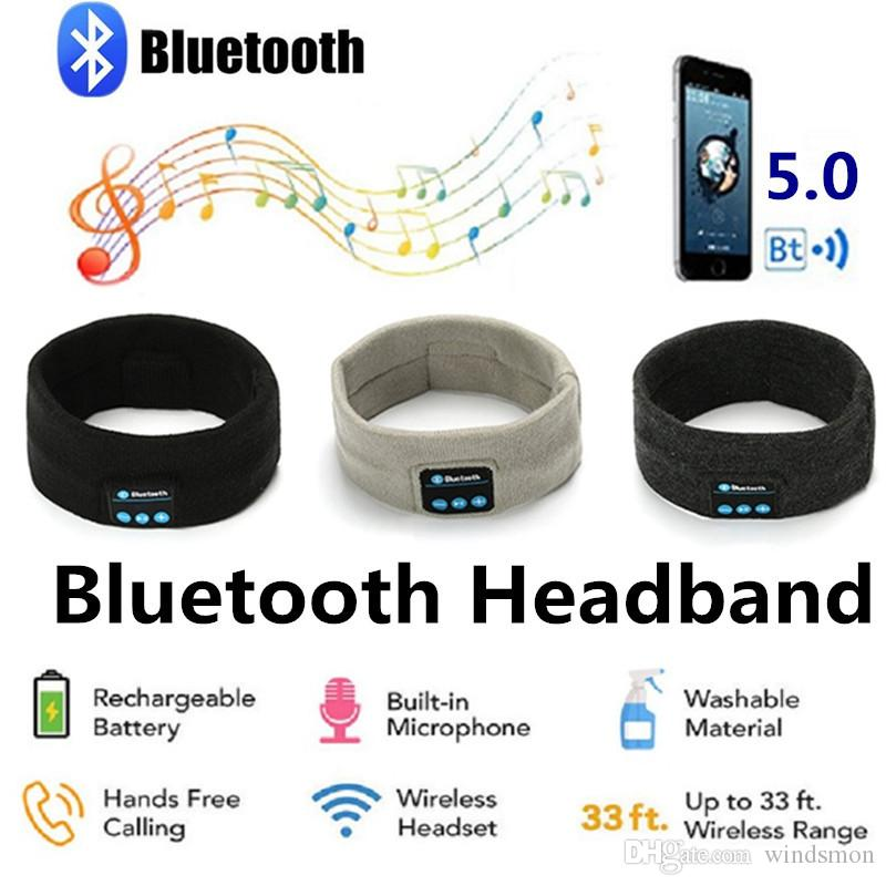 50PCS Winter Knitting Music Headband Headset Wireless Bluetooth Earphone Headphone for Running Yoga Gym Sleep Sports Earphones