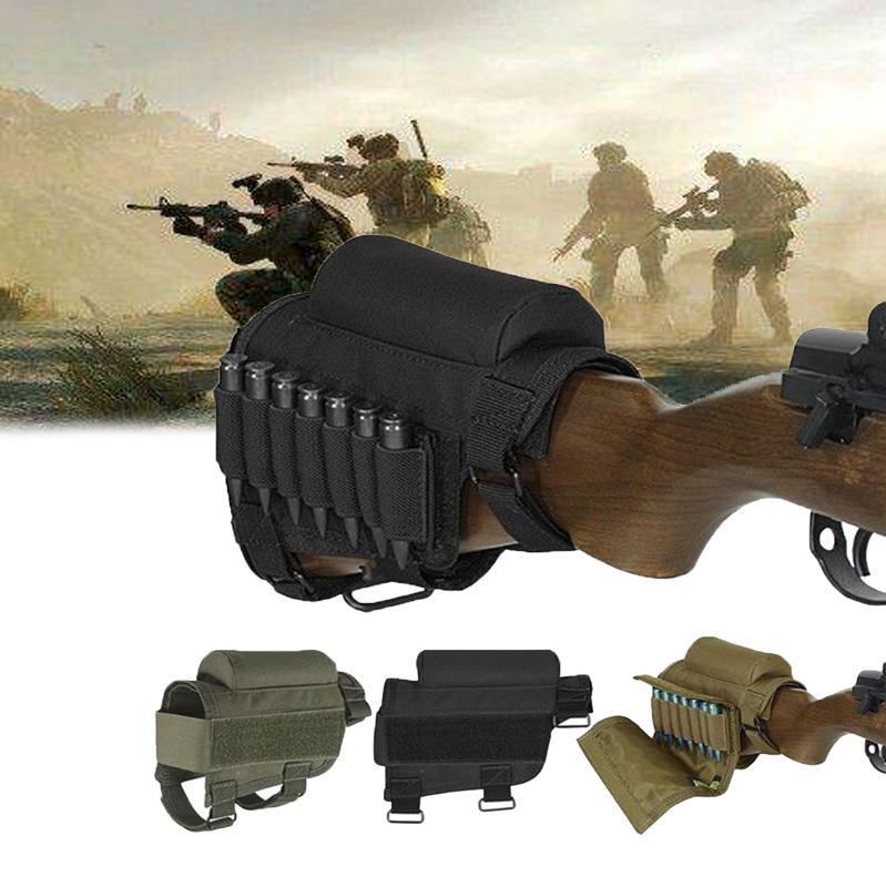 Caza al aire libre táctico bala bolsa portátil titular de la munición accesorios ajustables bolsa para guardar el paquete táctico de Molle de la bolsa Accesorios