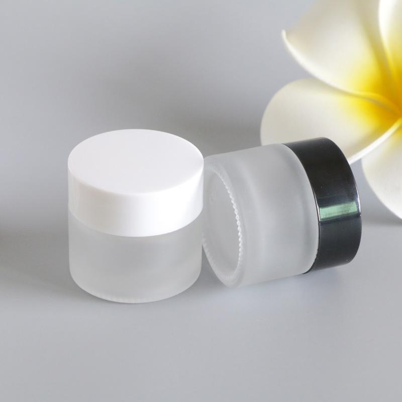 120 x 10G glassa di vetro vuote mano Moisturizer Cream Pot Vaso Viso Occhi Piedi Crema Solare Mask contenitore di imballaggio