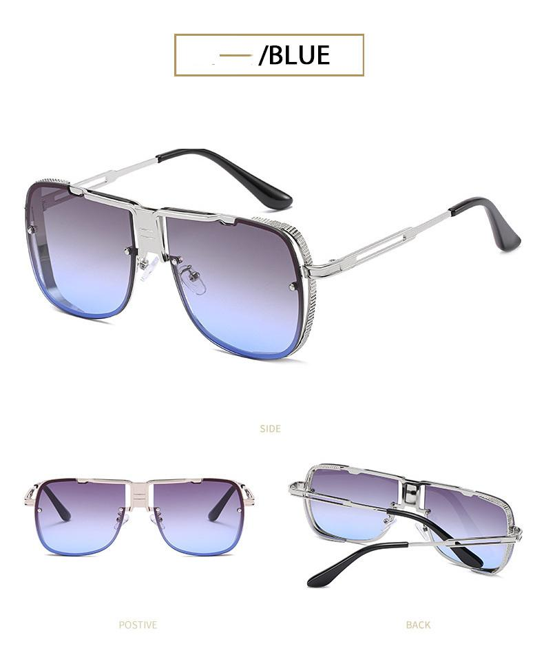 Metal de duplo feixe Sunglasses Eyewear Windproof o quadro do quadro de prata dos homens de DITA moda Iron Man Sunglasses 5 cores disponíveis