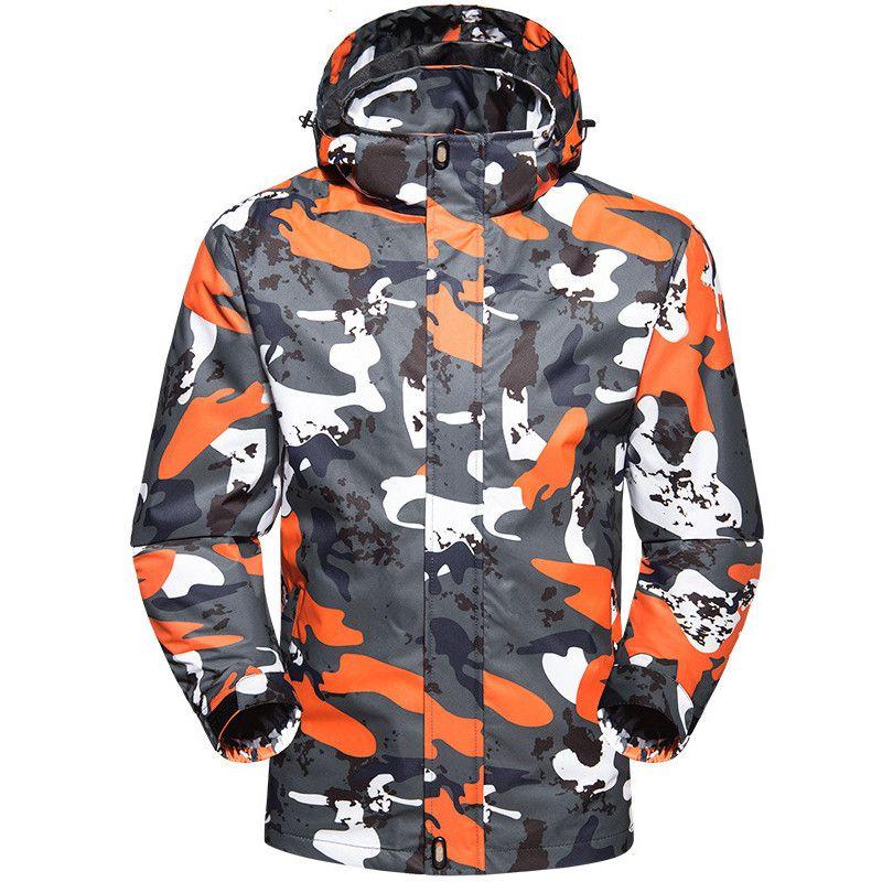2020 New Spring autumn Men Waterproof Jacket Windproof Camping Hiking Sports Coat Outdoor Fishing Windbreaker Camouflage Jackets