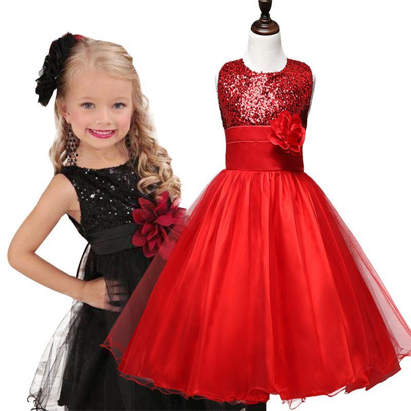 Vêtements de fête des filles Vêtements pour enfants Robe de soirée Robe de soirée pour enfants Vêtements de designer Filles Rouge Vert Bleu marine 10 Couleurs avec Fleur