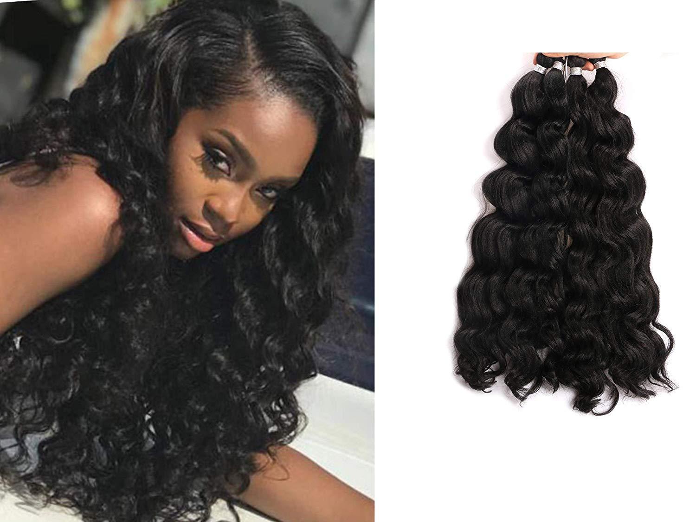 6pcs Full Head 18inch Synthetic Hair Braids Ocean Wave Hair Kinky Curly Crochet Braids Deep Twist Ombre Deep Wave Braiding Hair Extensions